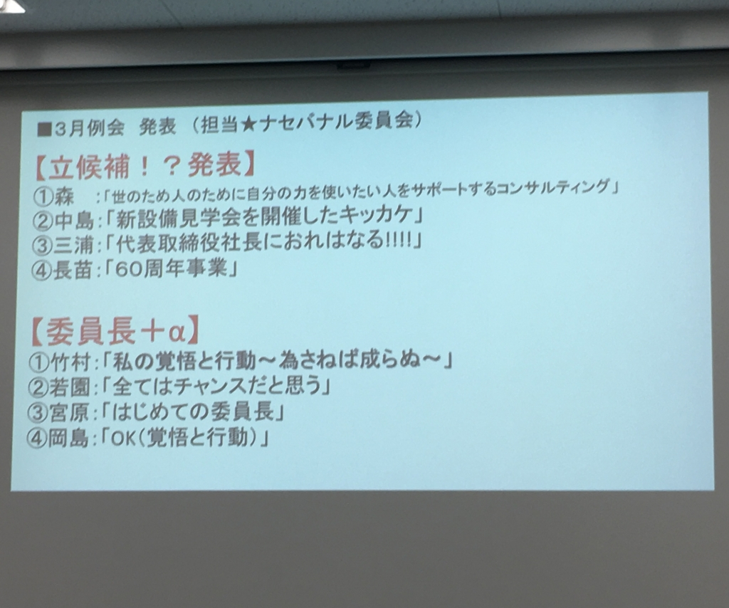 Read more about the article 私の覚悟と行動 名古屋而立会3月例会